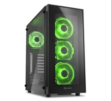Sharkoon TG5 Green, Gehäuse (schwarz/grün, Glas)