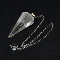 35-40 MM Long Natural Clear Crystal Quartz Rock Quartz Healing Dowsing Pendulum