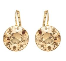 BELLA GOLDEN SHADOW CRYSTAL PIERCED EARRINGS GOLD PLATED BY SWAROVSKI 901640