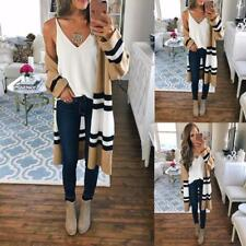 Women's Knitted Sweater Cardigan Long Maxi Coat Long Sleeve Loose Casual Outwear