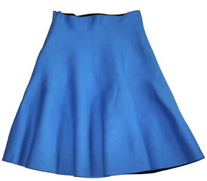Almost Famous Blue Knit Flared Winter Skirt Size 10 NWT Sample RRP £115