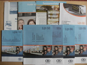 10 Belgian Railway Train Timetables Maps Leaflets 2006 - 2010 SNCB NMBS Set 3