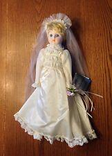 "The Heritage Mint Collection Ltd. Porcelain 16"" Doll Wedding Bride"