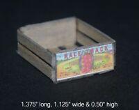 box dollhouse Classics Miniatures IM69024C  1//12 scale Wooden Fruit Crate