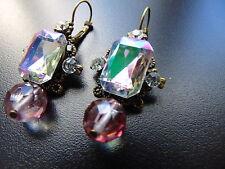 Mode-Ohrschmuck im Hänger-Stil aus Messing mit Perlen (Imitation)
