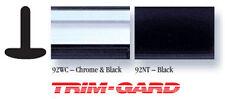 "11/16"" x 20' Roll Universal Black/Chrome Trim-Gard Wheel Well Molding"