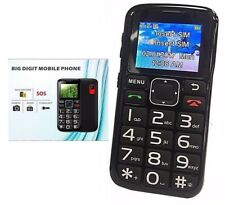 Camera Mobile Cell Phone For Senior Citizen Big Dial Buttons SOS Function Unlock