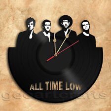All Time Low Band Wall Clock  Vinyl Record Clock Upcycled Vinyl