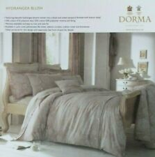 DORMA king size HYDRANGEA jacquard DUVET SET cover/pillow cases GOLD/CREAM vgc