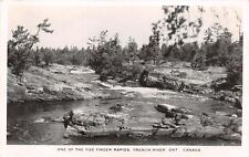 FRENCH RIVER ONTARIO~ONE OF THE FIVE FINGER RAPIDS~REAL PHOTO POSTCARD