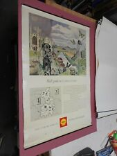 ORIGINAL SHELL GUIDE POSTER CAMBRIDGESHIRE  MAP JOHN NASH