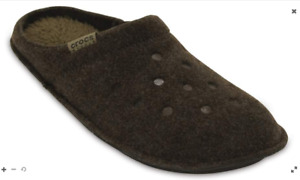 Mens Crocs Classic Slip On Light Backless Slippers Mules Brown Sizes UK 7 - 12