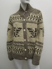 Vintage POLO SPORT RALPH LAUREN HAND KNIT COWICHAN Cardigan Sweater Size M