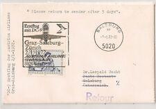 COVER SALZBURG AUSTRIAN AIRLINES ERSTFLUG MIT DC9 PREMIER VOL 1972. L332