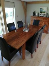 Dining room table and six chairs (expandable and in brilliant condition)