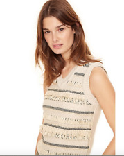 MSRP $400 TORY BURCH JACQUARD SWEATER VEST NWT Size S