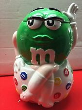 "M&M  GREEN GIRL COOKIE JAR ""HARD TO FIND"""