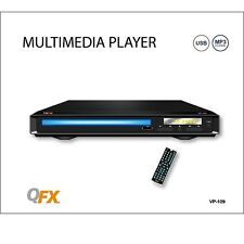 QFX VP-109 Home DVD/CD/MP3/USB Player +All Region-Free Multi-Zone (NTSC/PAL)