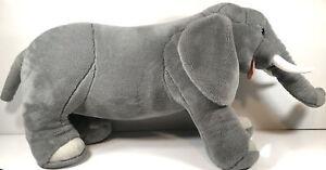 """Jumbo Melissa And Doug 36"""" Elephant Plush Stuffed Animal Toy Collectible Nice"""
