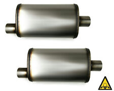 Two Universal Max Flow Ss Muffler 25 Single Inlet 25 Single Outlet