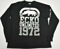 Ecko Unltd T-Shirt Men's 2XL XXL Logo Graphic Tee Black Urban Streetwear P605