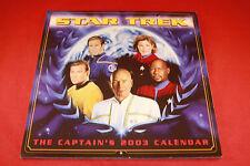 Star Trek The Captain's 2003 Calendar In Protective Sleeve