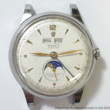 Rolex 8171 Large Moon Phase Day Date Mens Wrist Watch Vintage
