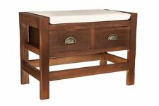 Hall Storage Bench Seater Drawers Wooden Cushion Seat Bedroom Hallway Stool New
