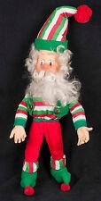 Enesco North Pole Village Elf Christmas Poseable Doll Sandi Zimnicki