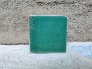 """1930s Vintage Architecture Furniture Tile 3"""" x 3"""" Blue Shade England Collectable"""
