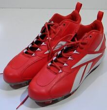 NEW Men's Reebok Cleats Baseball Shoes 16 Red  RB 411