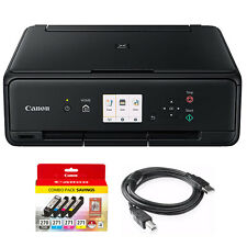 Canon PIXMA TS5020 Black Wireless Inkjet All-In-One Printer + Genuine Canon Ink