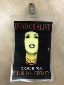 DEAD OR ALIVE/Pete Burns NUKLEOPATRA 1996 Tour ALL ACCESS Pass/Lanyard RARE ITEM