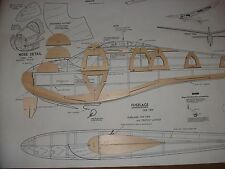 """King Size"" Berkeley's Kit Super Sinbad 93"" R/C / FF Airplane glider short kit."