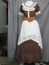 Western Dress Victorian Costume Civil War Prairie Style Cowgirl Custom Designed