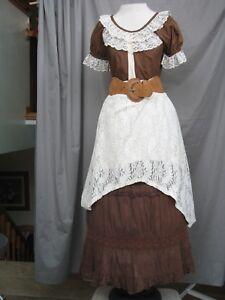 Western Dress Victorian Costume Civil War Prairie Style Cowgirl Custom Designed