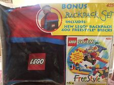 Vintage 1998 Lego Set # 4255 400 PC Freestyle Set W/ Mini Figure & Backpack Lot