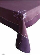 """Luxury embroidered tablecloth 140×300cm (55×118""""), NEW PURPLE"""
