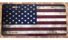 American Flag License Plate Car Tag New Distressed Vintage Tag