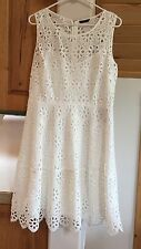 NWT Tommy Hilfiger size 14 white eyelet sleeveless lined dress $139