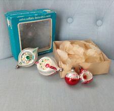 Vintage palline Natale vetro soffiato decoro mano glass Christmas decorazioni