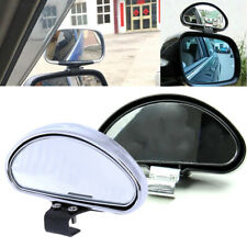 Universal Car Safety Side Blindspot Blind Spot Rearview Mirror Wide Angle Silver