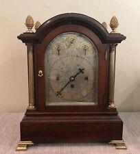 Large Antique Triple Fusee English Bracket Clock - 8 Bells & Gong
