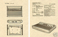 Atari 2600 CONSOLE US PATENT Art Print READY TO FRAME! Vintage Sears video game
