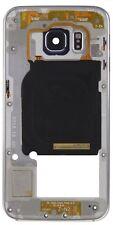 Carcasa Chasis Marco Frame USADO B PARA SAMSUNG S6 EDGE G925F AZUL NEGRO ORIGINA