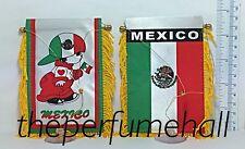 Mexico Flag Mexican Boy Flag Mini Banner Car rear view mirror glass window