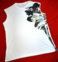 """ALL SAINTS """"FLUME TEE"""" GRAPHIC TOP T-SHIRT - L LARGE UK 12/14 US 8/10 - WHITE"""