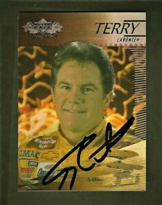 TERRY LABONTE  - AUTOGRAPHED - 2000 Upper Deck - Card #12      [e23]