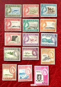 British Virgin Island QEII Stamps SC#144-158, SG 178-192 Complete set CV:$85