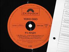 YOKO ONO -It's Alright- LP 1982 Polydor Archiv-Copy mint